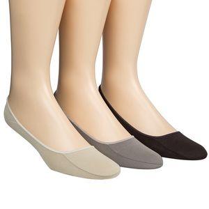 Calvin Klein Men's Cotton No-Show Liner Socks 3-Pk